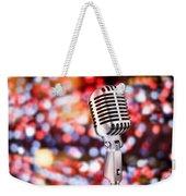 Microphone Weekender Tote Bag