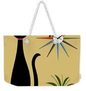 Mid Century Starburst Clock 3 Weekender Tote Bag