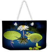 Mid Day Water Lily Reflection Weekender Tote Bag