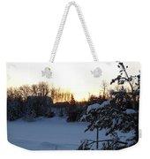 Mid January Winter Sunrise Weekender Tote Bag by Kent Lorentzen