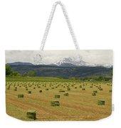 Mid June Colorado Hay  And The Twin Peaks Longs And Meeker Weekender Tote Bag