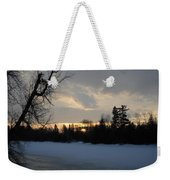 Mid March Sunrise Over Mississippi River Weekender Tote Bag