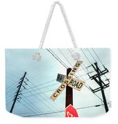 Mid West Crossroad, Usa Weekender Tote Bag