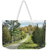 Middle Road In Autumn Weekender Tote Bag