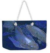 Midnight Blue Koi Weekender Tote Bag