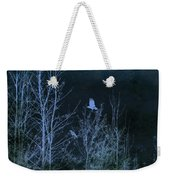 Midnight Flight Silhouette Blue Weekender Tote Bag