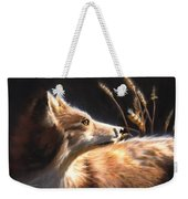 Midnight Fox Weekender Tote Bag