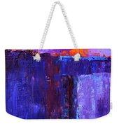 Midnight Glow Abstract Weekender Tote Bag