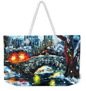 Midnight Stroll On The Gapstow Weekender Tote Bag