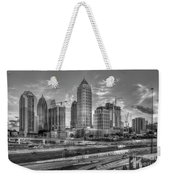 Midtown Atlanta Dusk B W Atlanta Construction Art Weekender Tote Bag