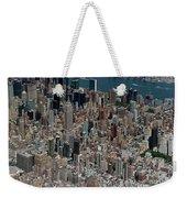 Midtown East Manhattan Skyline Aerial   Weekender Tote Bag