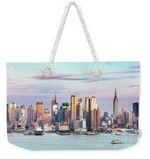 Midtown Manhattan Skyline At Sunset, New York City, Usa Weekender Tote Bag