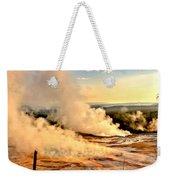 Midway Geyser Basin Steamy Sunrise Weekender Tote Bag