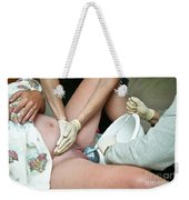 Midwife Removing Afterbirth Weekender Tote Bag