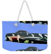 Migs In Formation Weekender Tote Bag
