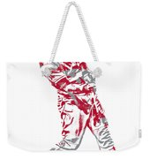 Mike Trout Los Angeles Angels Pixel Art 20 Weekender Tote Bag