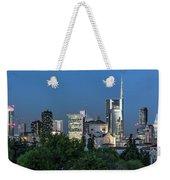 Milan Skyline By Night, Italy Weekender Tote Bag