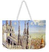 Milan Travel Print Weekender Tote Bag