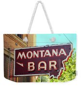 Miles City, Montana - Bar Neon Weekender Tote Bag