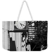 Miles City, Montana - Downtown Clock Bw Weekender Tote Bag
