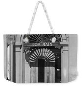 Miles City, Montana - Downtown Entrance Bw Weekender Tote Bag