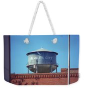 Miles City, Montana - Water Tower Weekender Tote Bag