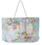 Miles Davis - Watercolor Portrait.4 Weekender Tote Bag