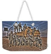 Military Police Pose For This Hdr Image Weekender Tote Bag
