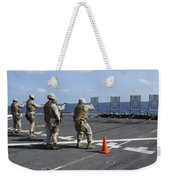 Military Policemen Train Weekender Tote Bag by Stocktrek Images