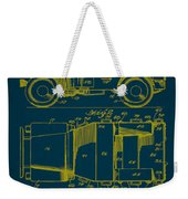 Military Vehicle Body Patent Drawing 1a Weekender Tote Bag