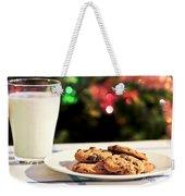 Milk And Cookies For Santa Weekender Tote Bag by Elena Elisseeva