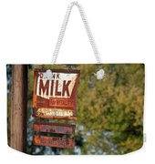 Milk Sign Weekender Tote Bag