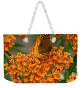 Milkweed And A Frittalary Weekender Tote Bag