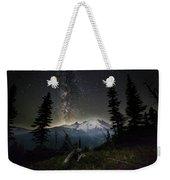 Milky Mountain Weekender Tote Bag