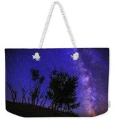Milky Way And Silhouette Trees At Bruneau Dunes State Park Idaho Weekender Tote Bag
