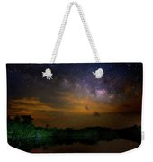 Milky Way Fire Weekender Tote Bag