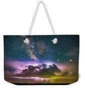 Milky Way Monsoon Weekender Tote Bag