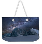 Milky Way On Italian Dolomites Weekender Tote Bag
