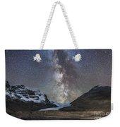 Milky Way Over Athabasca Glacier Weekender Tote Bag