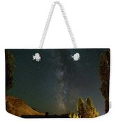 Milky Way Over Farmland In Central Oregon Weekender Tote Bag