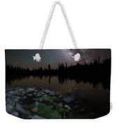 Milky Way Over Pass Lake Weekender Tote Bag