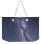 Milky Way Over The Columbia Icefields Weekender Tote Bag