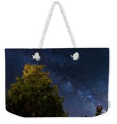 Milky Way Over The Forest At The Troodos Mountains In Cyprus. Weekender Tote Bag
