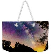 Milky Way Over The Saco River Maine  Weekender Tote Bag