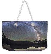 Milky Way Panorama At Cameron Lake Weekender Tote Bag