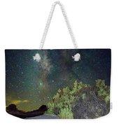 Milky Way White Sands Weekender Tote Bag