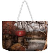 Mill - Clinton Nj - The Mill And Wheel Weekender Tote Bag