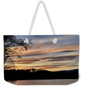 Mill Creek Lake Sun Set Weekender Tote Bag by Todd Hostetter