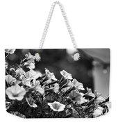 Mill Hill Inn Petunias Black And White Weekender Tote Bag