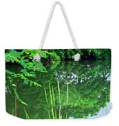 Mill Pond Reflections Weekender Tote Bag